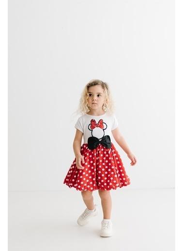 Minnie Mouse   Çocuk Elbise 15551 Beyaz
